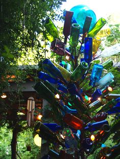 every southern home needs a bottle tree
