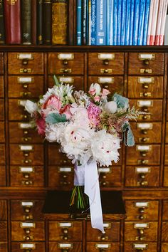 pale pink bouquet, photo by Redfield Photography http://ruffledblog.com/romantic-philadelphia-wedding #weddingbouquet #flowers