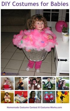 Homemade Costumes for Babies - a lot of DIY costume ideas!