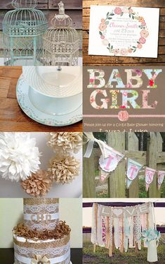 Shabby chic baby shower. Vintage cupcake stand by www.cakestandlady.com