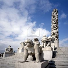 Oslo, Norway. Vigeland Sculpture Park, it's the worlds largest sculpture park by a single artist. Very bizarre sculptures. been there