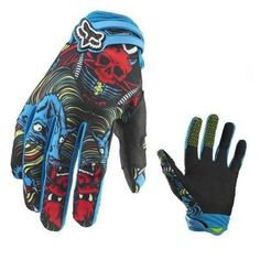 NEW Skull Finger Cycling Bike Bicycle Motorcycle Racing Sports Gloves Size L