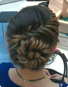 . shells, shell braid, hairstyl inspir, caramels, braids, hairstyl idea, hair style, conch shell, highlights