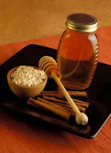 Cinnamon and Honey Health Benefits -  Also a tbsp of honey (luke warm) and 1/4 tsp of cinn. mixed together once a day for 3 days to get rid of common cold!