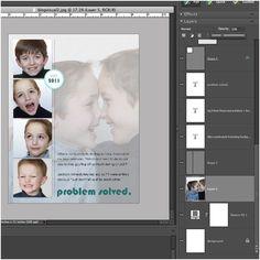blending photos on digital layouts