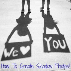How to Create a Father's Day Shadow Photo!