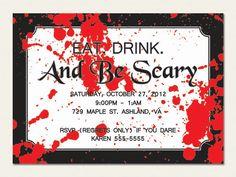 Adult Halloween Party Invitation -  #halloweenpartyinvitation