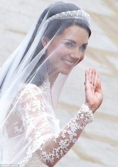 Duchess of Cambridge, April 2011.  Cartier Halo Scroll tiara