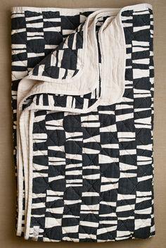 B&W quilt.