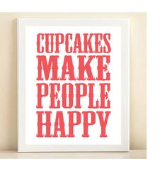 Pink Cupcakes Make People Happy poster by AmandaCatherineDes