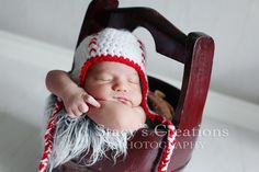 Baby Hat Baseball Hat Crochet Baby Hat Boy Hat by Monarchdancer, $25.00