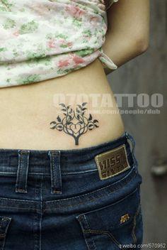 lower back #tree #tattoo