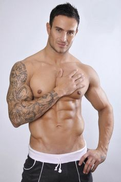 men tattoos, eye candi, fitness abs, sleeve tattoos, human canva