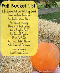 Fall Bucket List from Dirt and Boogers