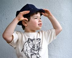 Organic t-shirt by klt:works - Organic denim newsboy cap by PurePixie