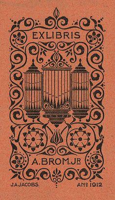 [Ex libris A. Brom. Jr] by Stifts- och landsbiblioteket i Skara, via Flickr