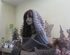 Ravelry: Chunky Hooded Scarf PDF Pattern pattern by Sacha Kay