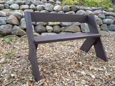 Leopold Bench - Fire pit, backyard, trail bench. Simple and sturdy designed Aldo Leopold. Inexpensive bench for a quick build. Will not blow over. Lots of plans on the internet.