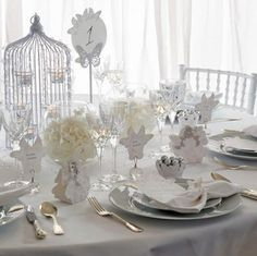 Mackburry silver sparkling butterfly-theme wedding decorations
