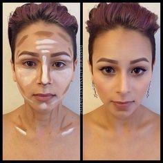 Contouring HOW TO using Illamasqua skin base foundations from K0psheila on The Beauty Board. #Sephora #contour