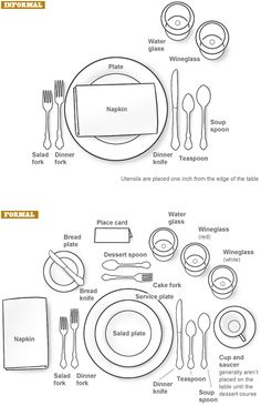 Back to school how to set a table