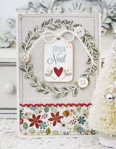 Joyeux Noël Card by Melissa Phillips for Papertrey Ink (October 2013)