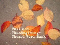 Fall Word Banks