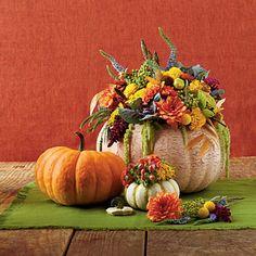 Pumpkin centerpiece (how-to). Love Fall decor!