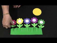 Five Little Flowers - Felt Board