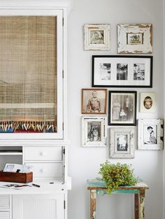 A collection of vintage photos get an updated look on this gallery wall. #hgtvmagazine  http://www.hgtv.com/decorating-basics/a-new-house-with-old-charm/pictures/page-15.html?soc=pinterest