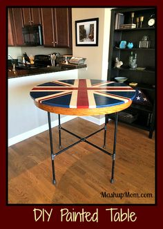 DIY painted table --