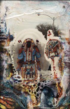 Recovered photos (I assume from Katrina) of a Mardi Gras indian tribe