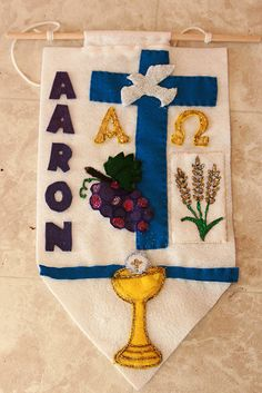 Aaron's Communion Banner. Aaron will receive the sacrament of Holy Eucharist on May 12, 2012.