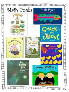 Great post on literature-based lesson plans for counting. Includes reproducibles for each book.
