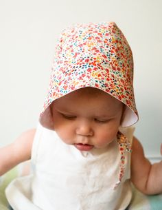Sewing pattern for baby sun bonnet
