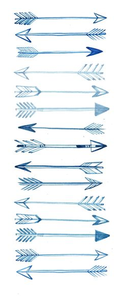 arrows. could be a cool tattoo, either all of them down the ribs or one on the hip