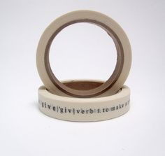 printed 'give' tape by pilosale on Etsy, $12.00