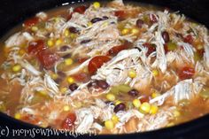 Crock Pot Santa Fe Chicken Recipe – Weight Watchers 4 PointsPlus