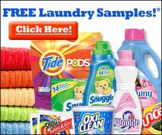 Get Free #Laundry Samples: Tide, Snuggle, Oxi Clean, Woolite, Bounce.