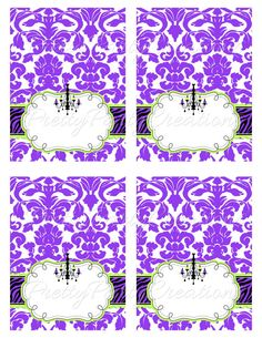 HALLOWEEN GLAM editable tent cards  by PrettyPartyCreations, $8.00