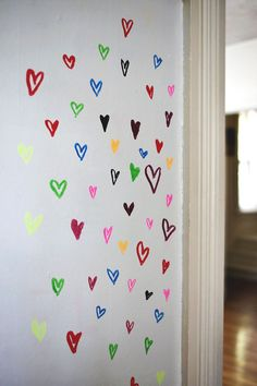 Try This- paint a wall with whiteboard paint! abeautifulmess.com