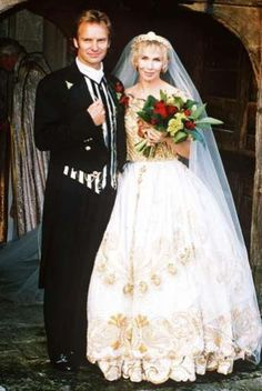 An oldie but a goodie - this snap of Sting and Trudie Styler's 1992 wedding is absolutely priceless. Only Mr and Mrs Sting could pull this look off quite so effortlessly...