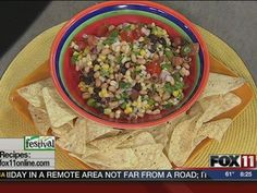 Texas Caviar #recipe from WLUK FOX 11 Good Day Wisconsin Cooking with Amy Hanten. #recipes #video