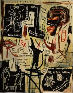 """Melting Point of Ice""   1984  Jean-Michel Basquiat"