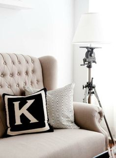 Decorating with Monograms and Initials