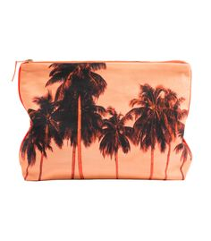 The perfect pouch for summer! Deszo Printed Palm Pouch on #ShopBAZAAR