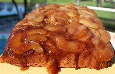 Caramel Apple Upsidedown Spice Cake Recipe