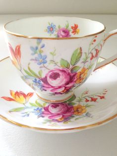 English Duchess Bone China Teacup and Saucer
