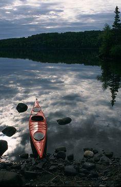 kayak on shore, Isle Royale National Park
