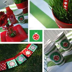 Lady bug birthday decorations. #Ladybug #birthday #party
